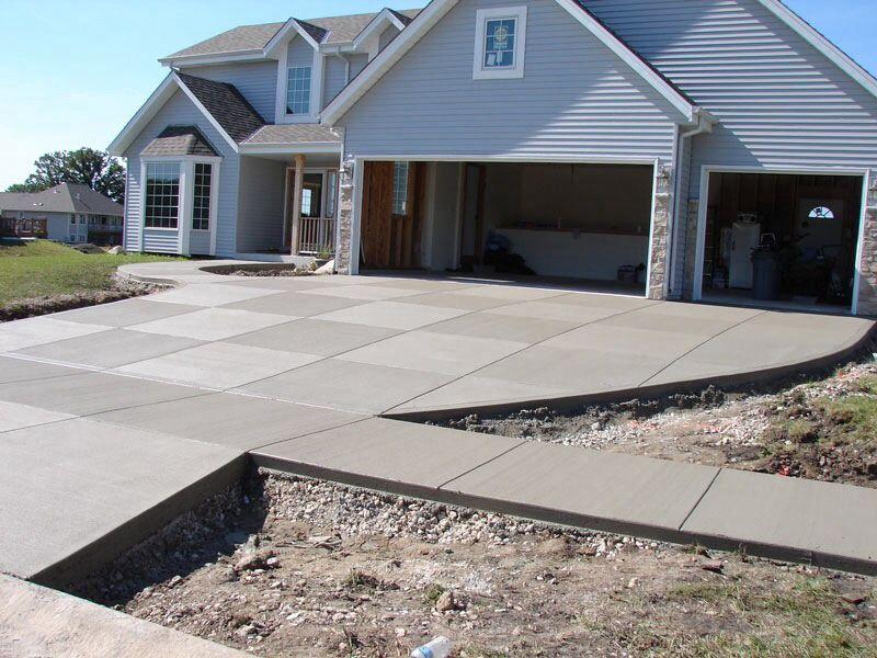 бетонная подъездная дорожка