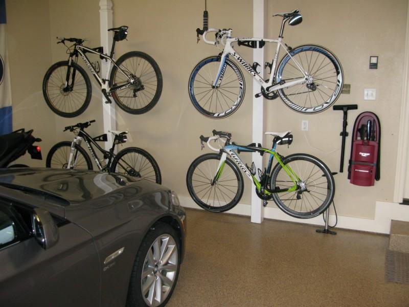 Какие решения для хранения велосипедов в гараже?